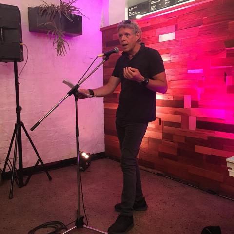 AntiPoet at Perth Pestival Lit Crawl Slam 2020